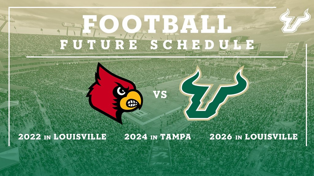 USF and Louisville Announce Three-Game Football Series