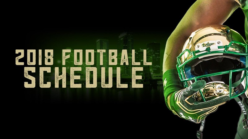 2018 Football Schedule Announced Usf Athletics