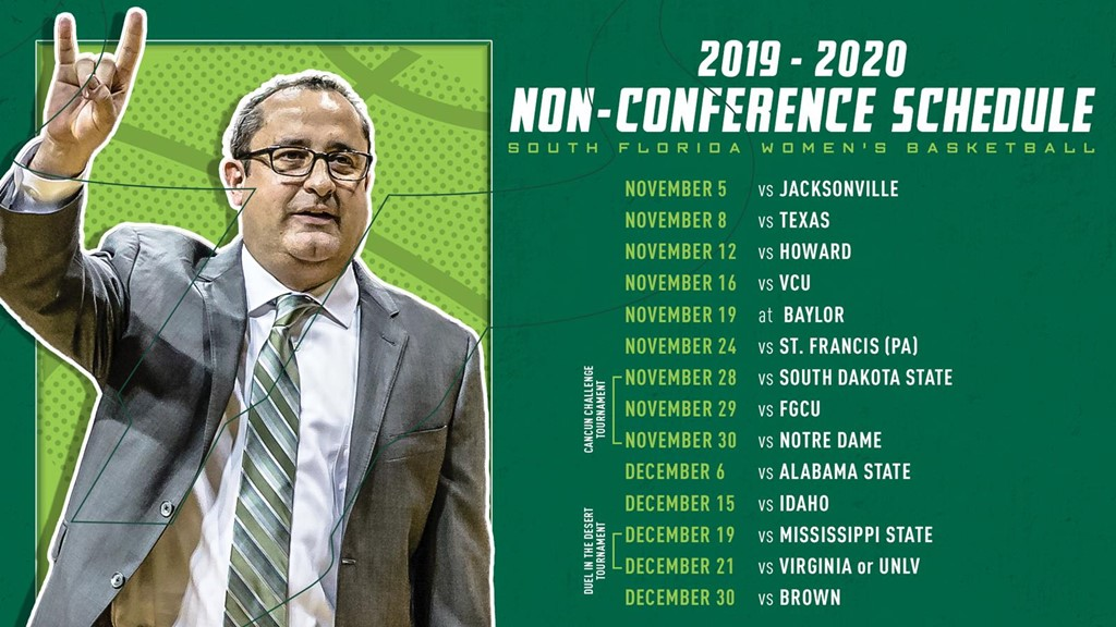 Mississippi State Women\'S Basketball Schedule 2020 USF Non Conference Schedule Packed with Power House Opponents